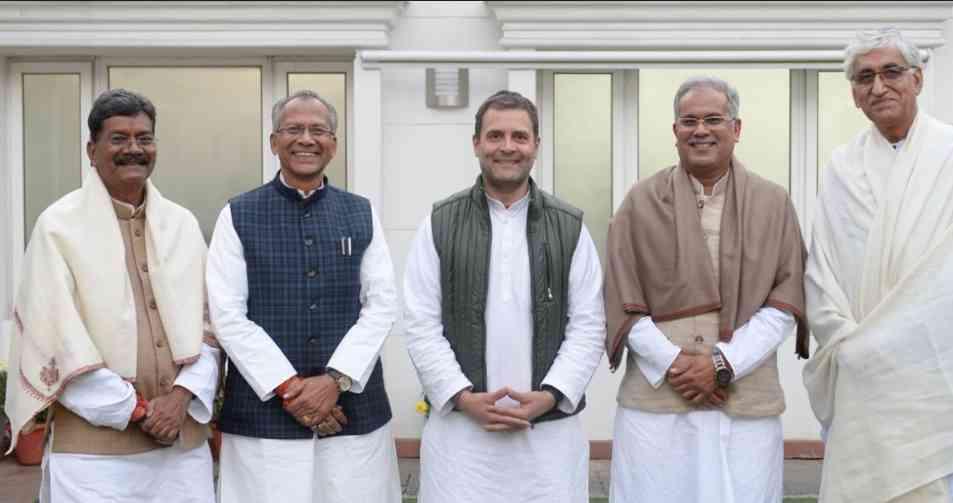 chhattisgarh tamra dhwaj sahu bhupesh baghel ts singh deo charandas mahant - Satya Hindi